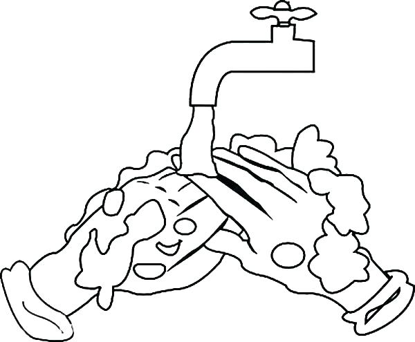 600x495 Hand Washing Coloring Pages Coloring Pages Cleaning Remaining Soap