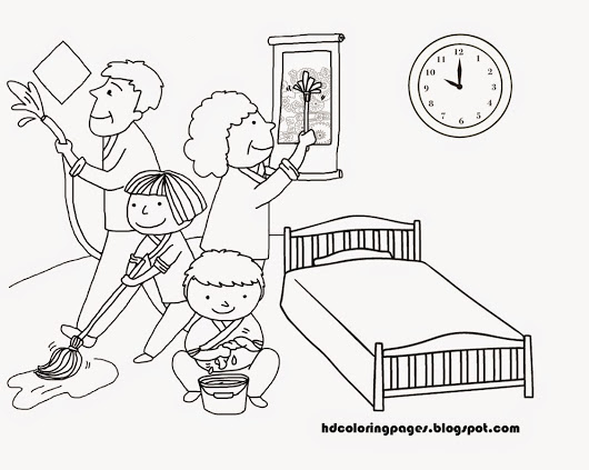 530x423 House Cleaning Family Coloring Pages House Cleaning Family