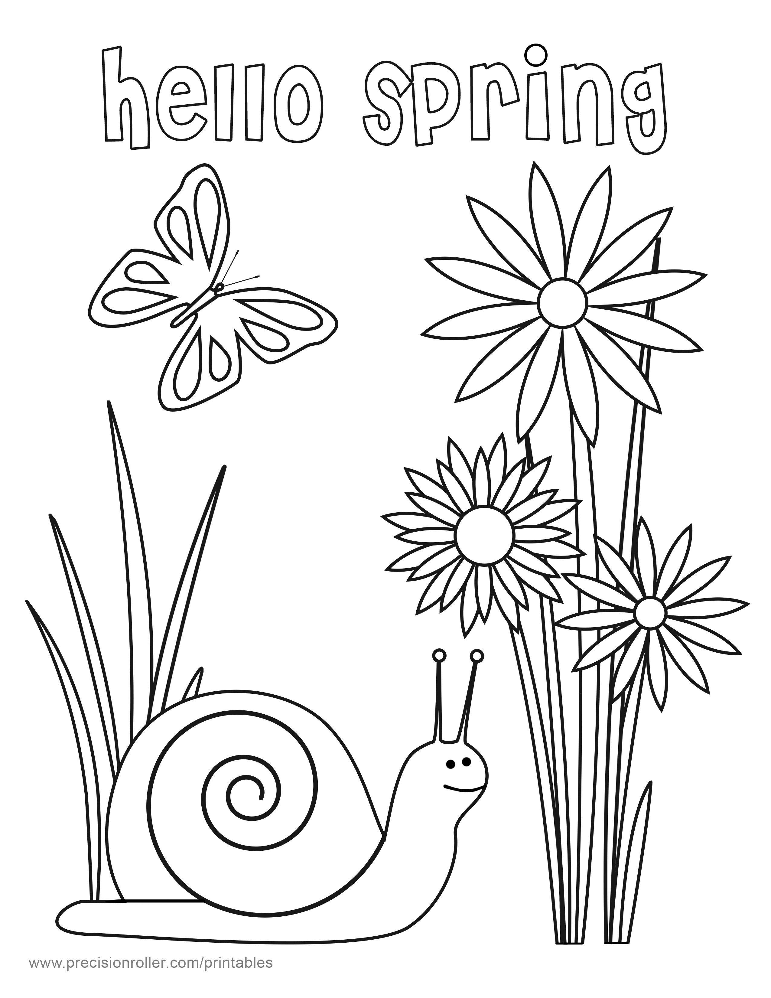 2550x3300 Shocking Hello Spring Coloring Page Precision Pict For Printable