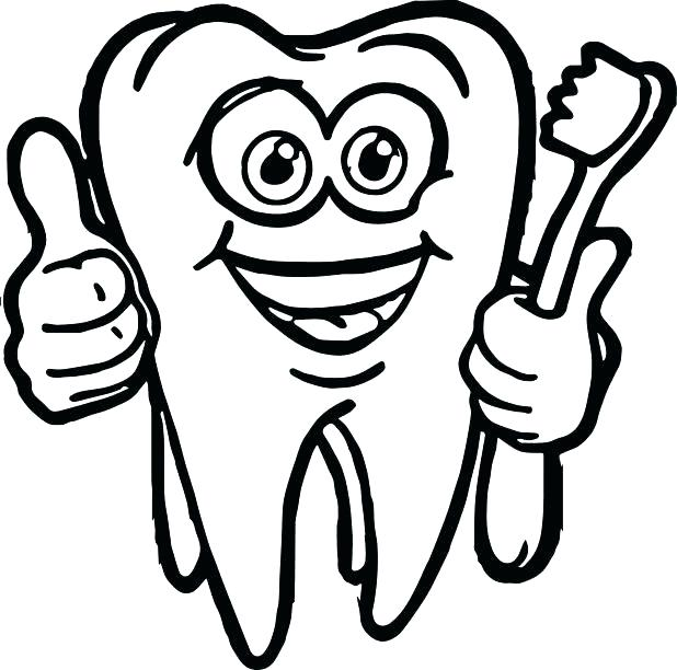 618x612 Teeth Coloring Pages Dental Coloring Pages For Preschool As Dental