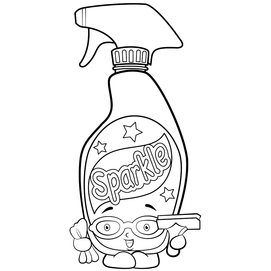 1024x1024 Bottle Of Window Cleaner Coloring Page Squeaky Clean