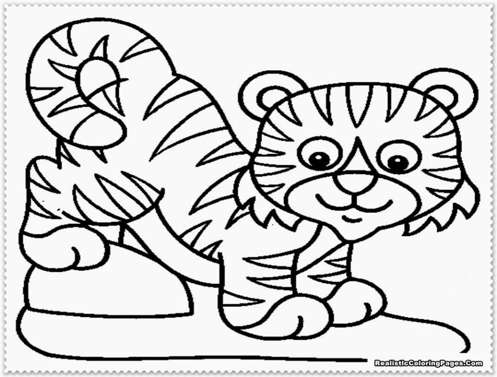 1024x778 Coloring Pages Of Tigers