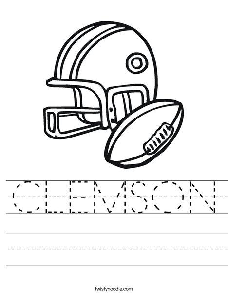 468x605 Clemson Worksheet