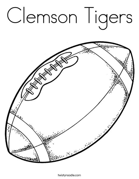 468x605 Clemson Tigers Coloring Page