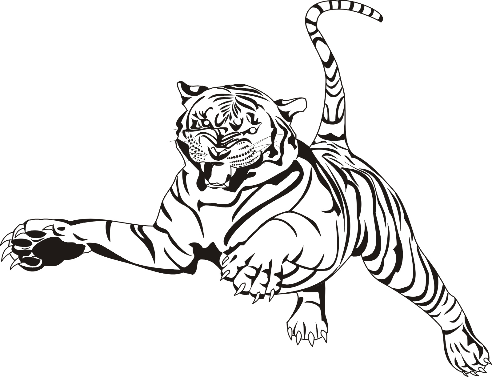 1599x1225 Free Printable Tiger Clipart
