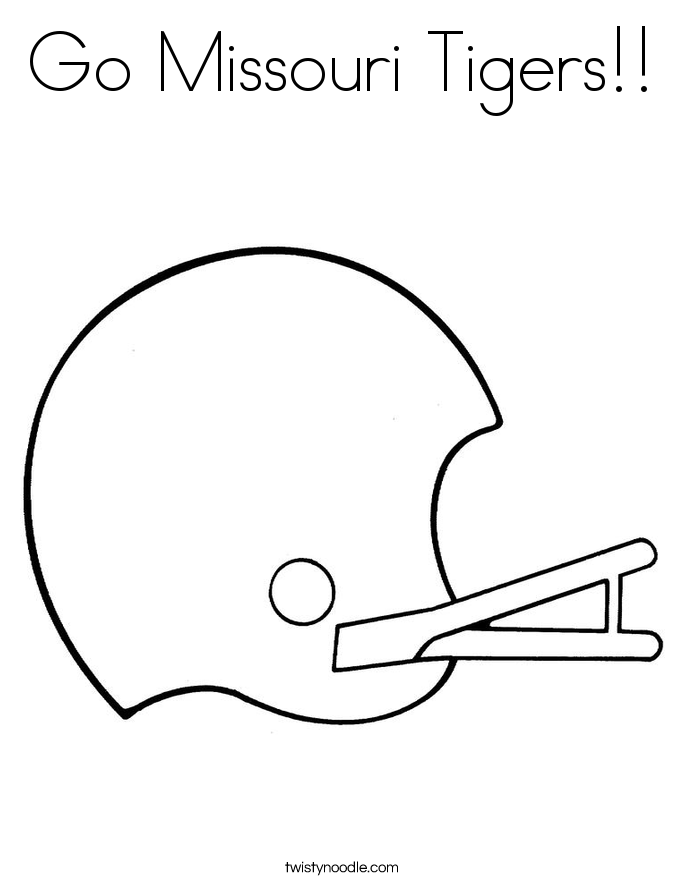 685x886 Missouri Tiger Coloring Pages