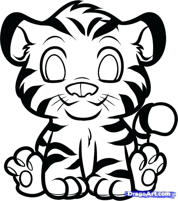 736x828 Tigers Coloring Pages Tiger Coloring Pages Packed With Small Cute