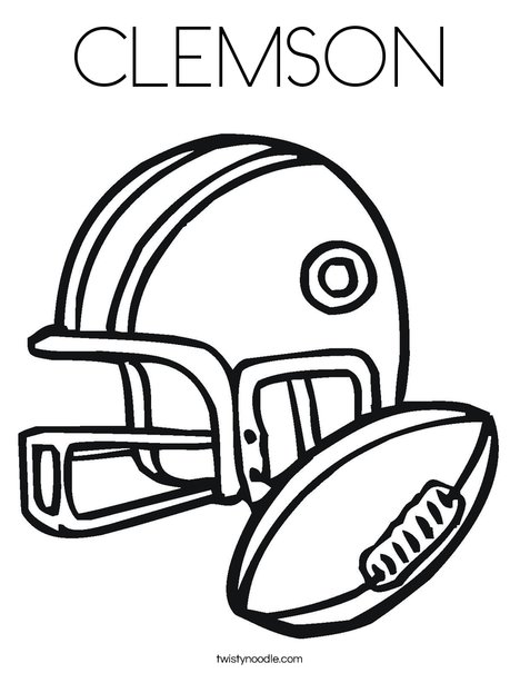468x605 Clemson Coloring Page