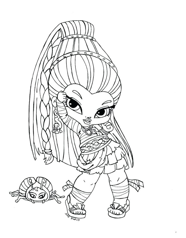 750x959 Little Girl Monster High Coloring Page Little Girl Monster High