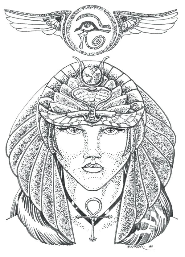 600x833 Cleopatra Coloring Pages Vii