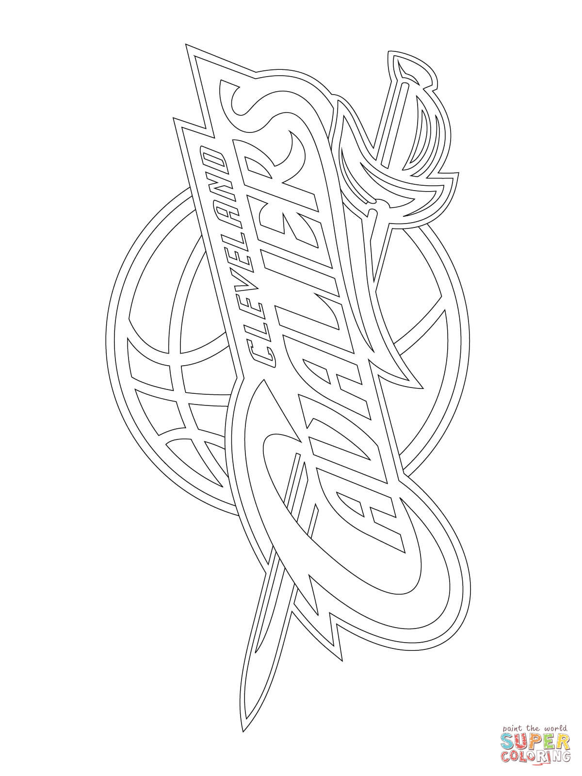 1200x1600 Cleveland Cavaliers Logo Coloring Page Cavs Pages
