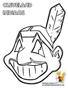 236x305 Cleveland Indians Logo Coloring Pages Baseball