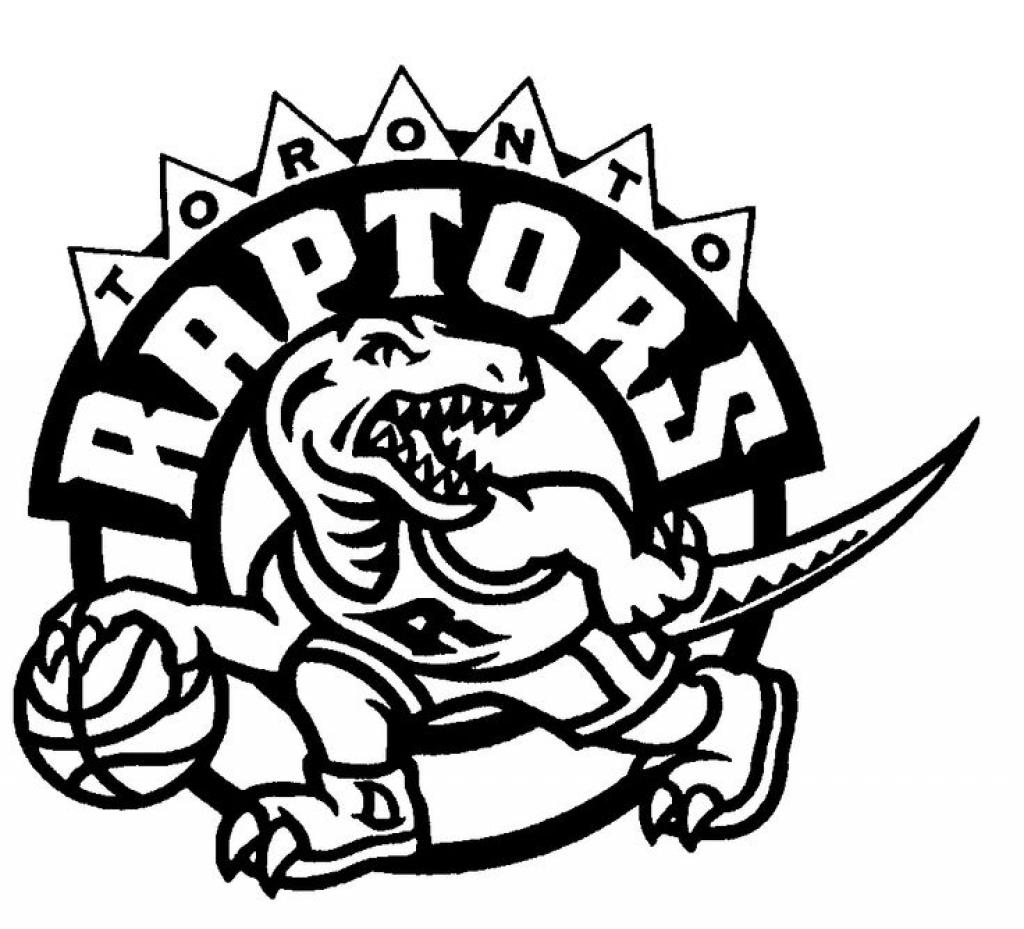 1024x929 Amazing Toronto Raptors Logo Coloring Page Popular Team Nba Pages