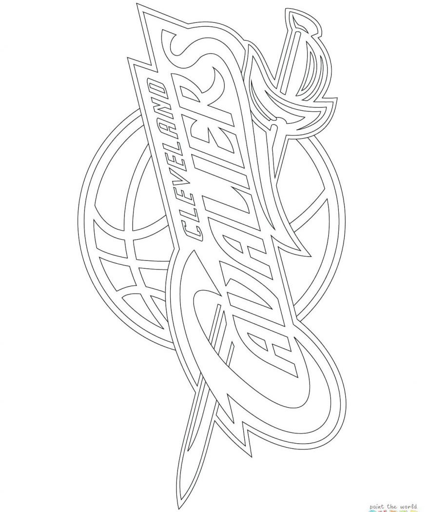 photograph regarding Cavs Schedule Printable referred to as Cleveland Cavs Coloring Internet pages at  Free of charge for