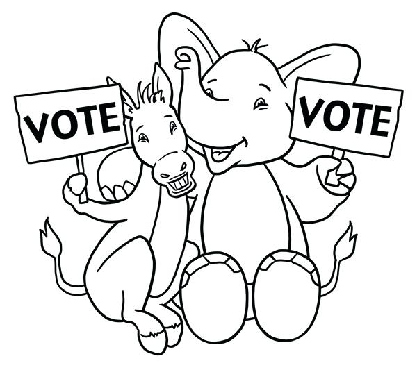 600x533 Cleveland Browns Coloring Pages Kids Vote Coloring Page