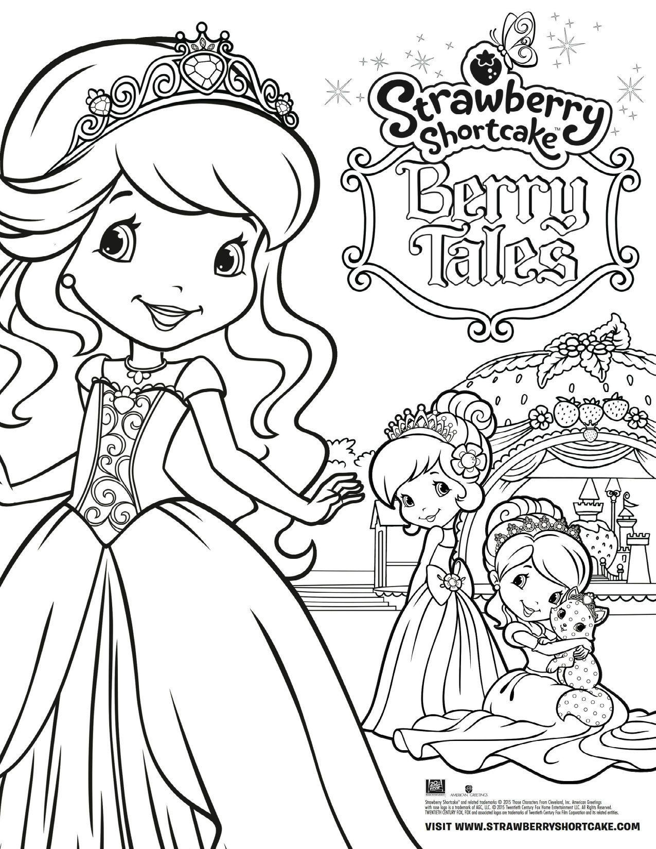 1275x1650 Appealing Strawberry Shortcake Berry Tales Coloring Page