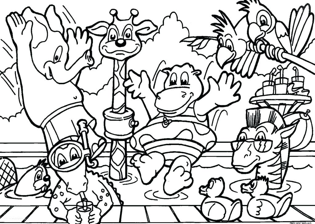 1024x729 Zoo Coloring Pages To Print Zoo Coloring Pages To Print