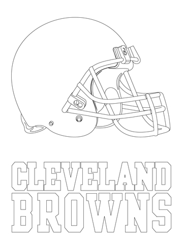 360x480 Cleveland Browns Coloring Page Free Download