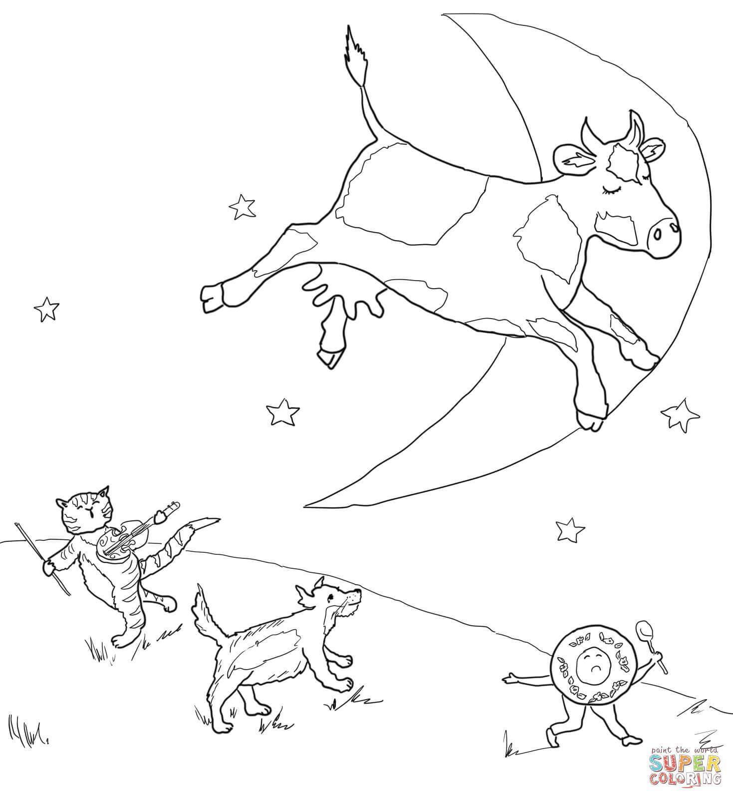 1469x1600 Awesome Compromise Cow Jumping Over The Moon Coloring Page Mother