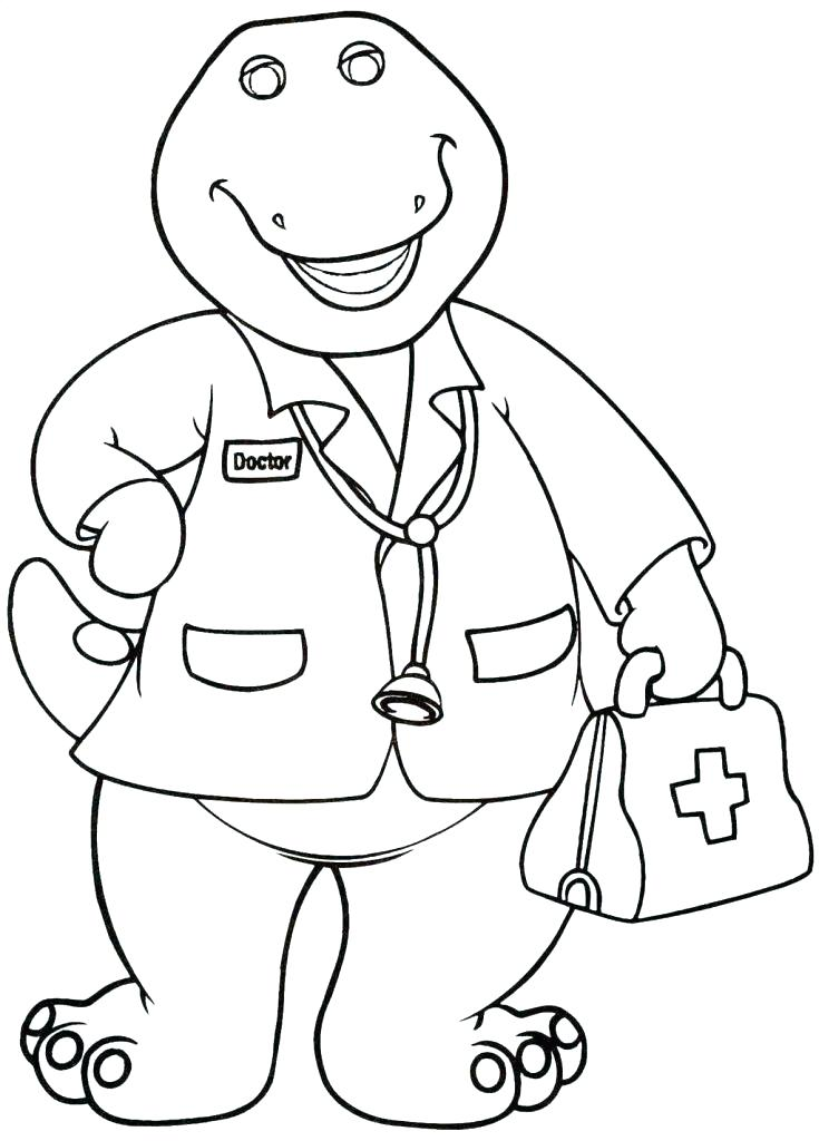 735x1024 Click Clack Moo Coloring Pages Barney Coloring Pages Top Barney