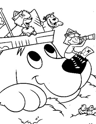 319x412 Clifford Coloring Pages