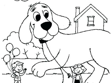 440x330 Clifford Coloring Pages Coloring Gallery For The Big Red Dog