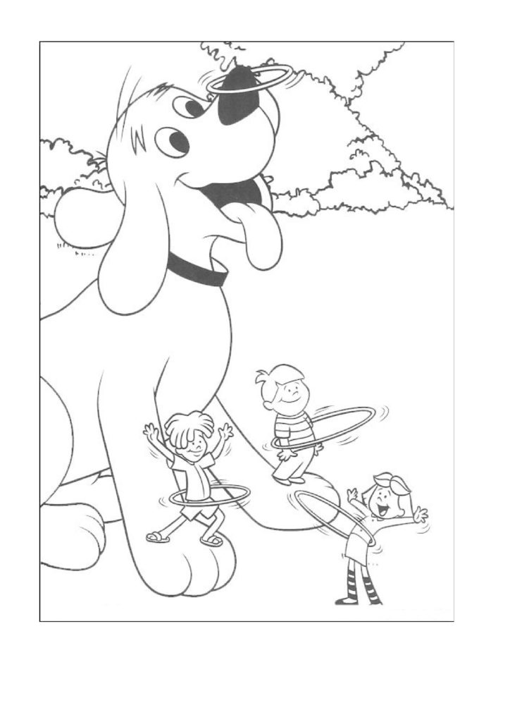 724x1024 Clifford Coloring Pages Of The Big Red Dog Pictures To Like