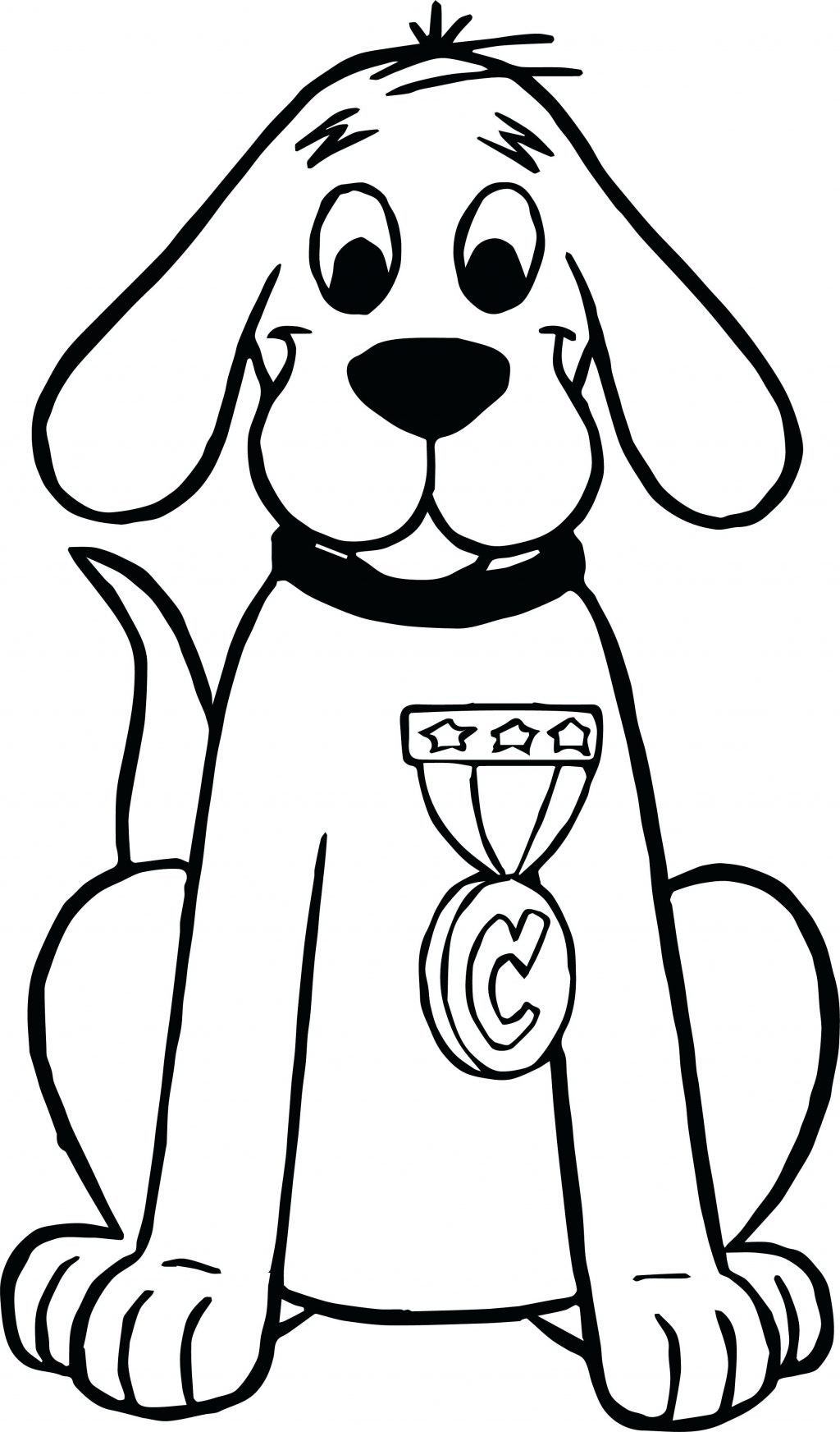 1024x1744 Highest Baby Clifford Coloring Pages Big Red Dog This