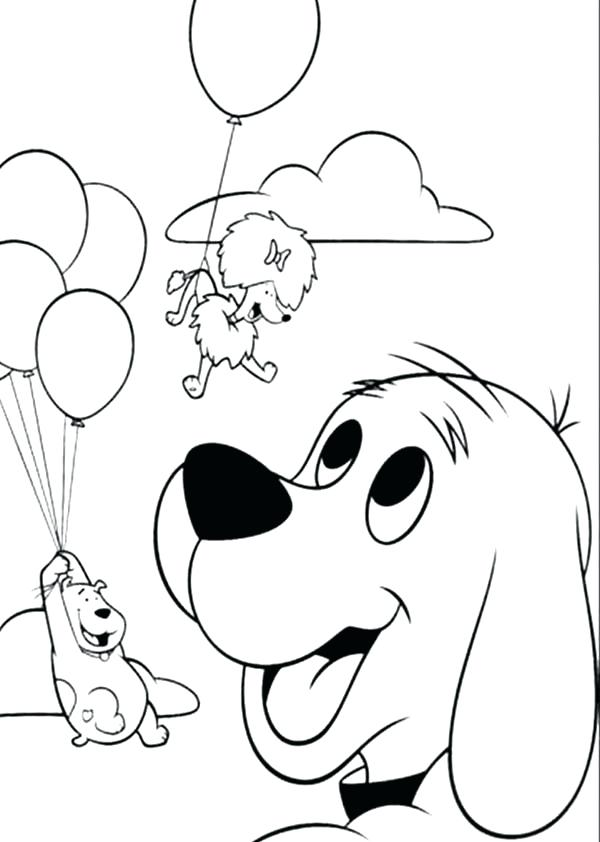600x842 Clifford Coloring Page
