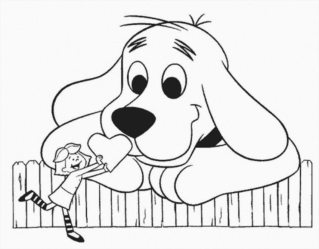 1024x800 Clifford Coloring Pages The Big Red Dog High Definition