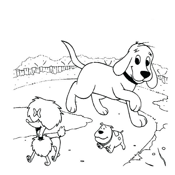 600x600 Clifford Coloring Pages