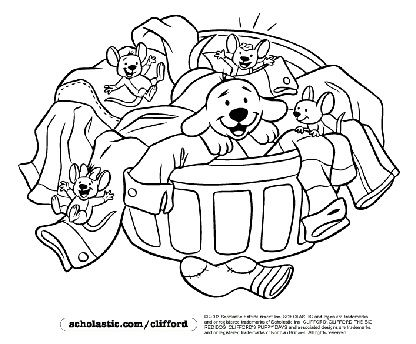 Clifford Puppy Days Coloring Pages