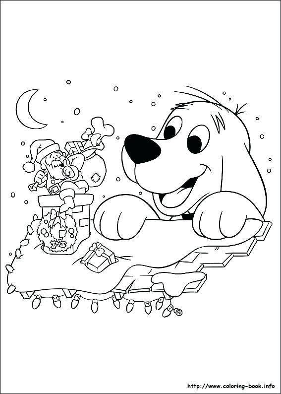 567x794 Clifford Coloring Page Printable Coloring Page Big Red Dog Cartoon