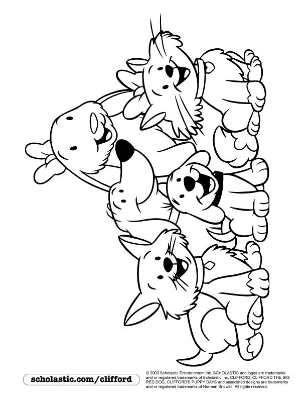 612x792 Clifford Coloring Pages