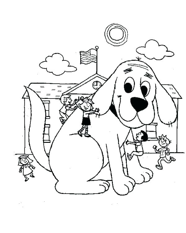 600x752 Clifford Coloring Pages Free The Big Red Dog Is In School