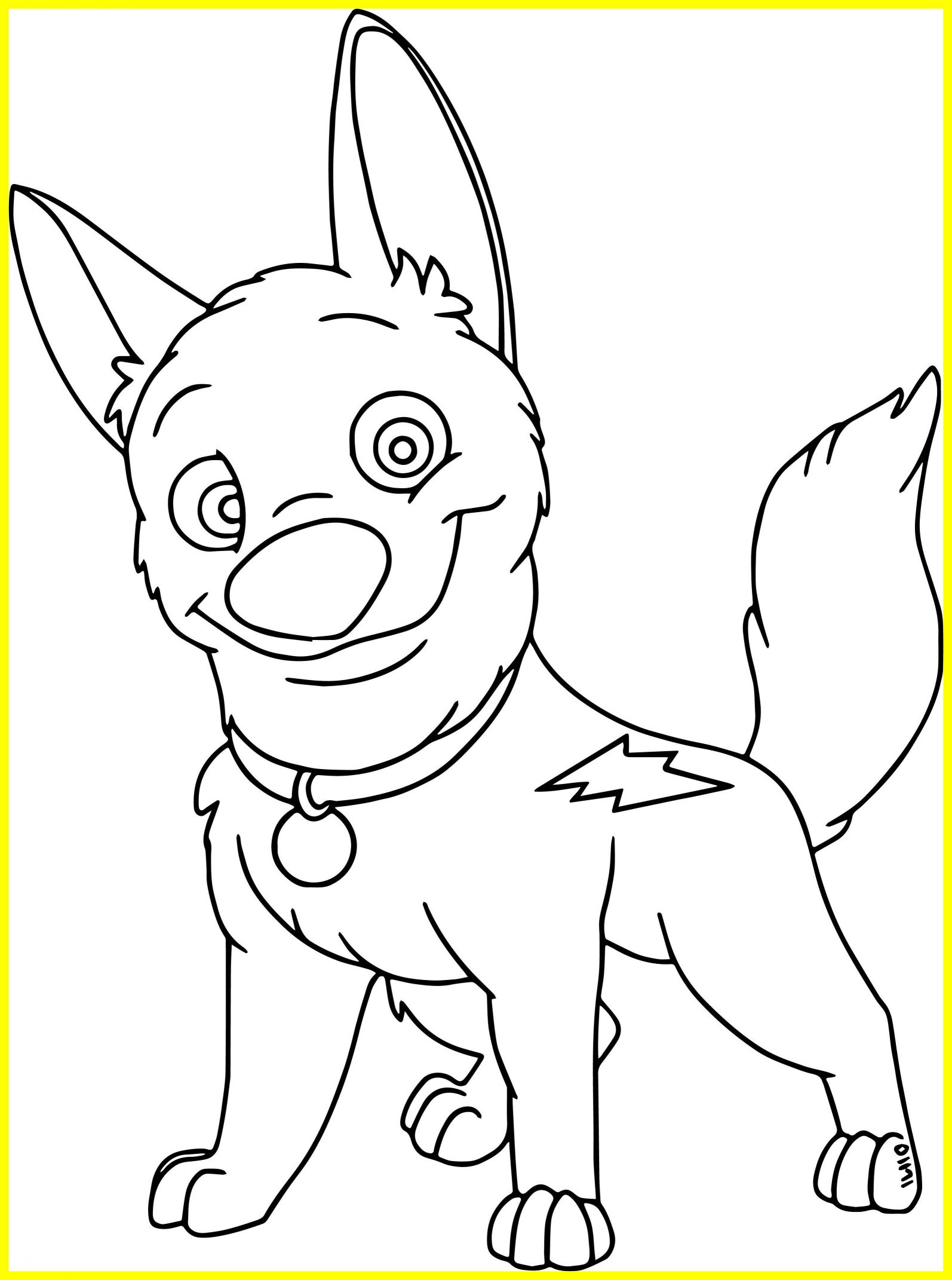 1594x2142 Inspiring Cute Bolt Dog Coloring Pages Wecoloringpage For Clifford