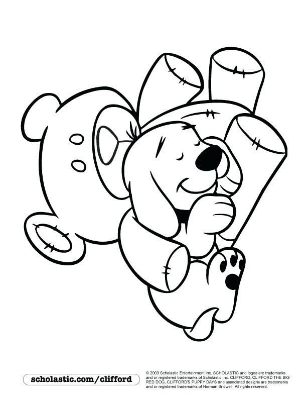 612x792 Clifford Coloring Pages Free