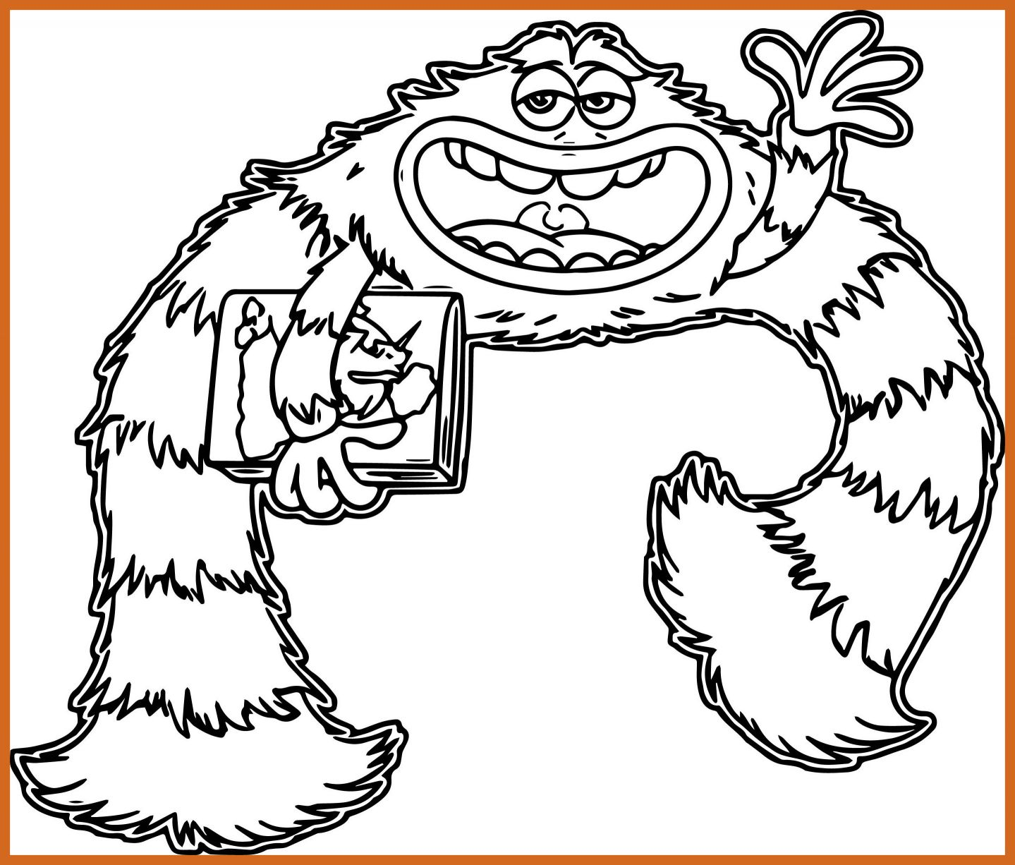1439x1226 Best Monster University Coloring Pages Wecoloringpage For Clifford