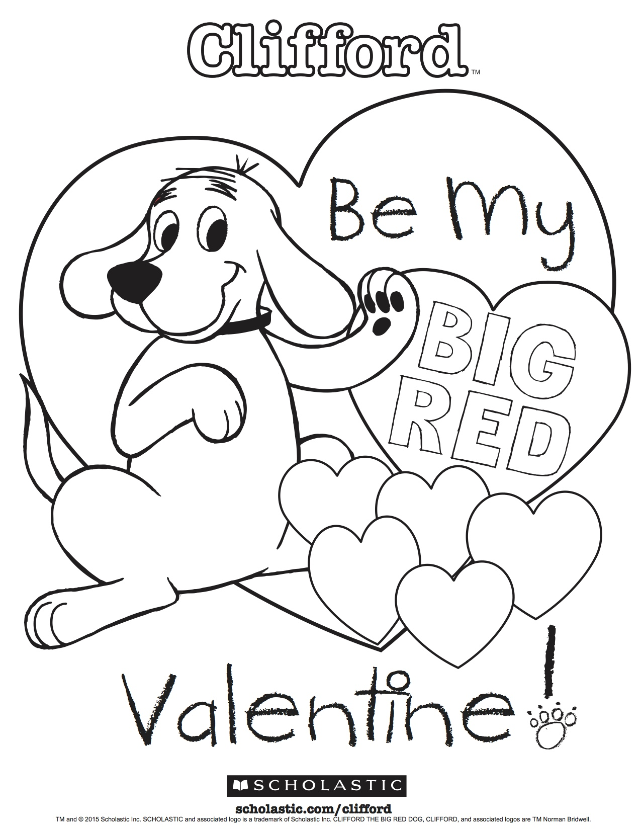 1275x1650 Clifford Coloring Pages