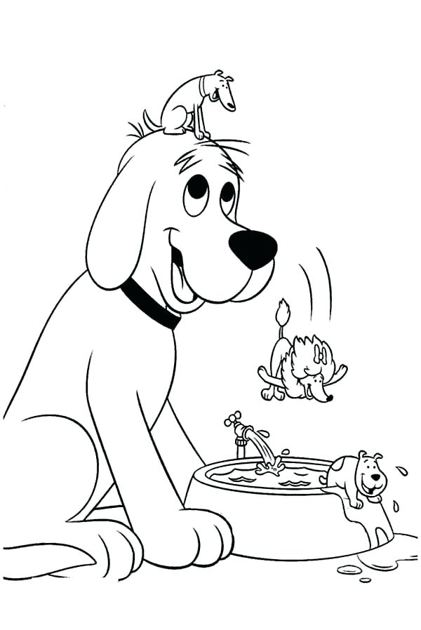 600x898 Clifford Coloring Pages The Big Red Dog Is In School Coloring Page