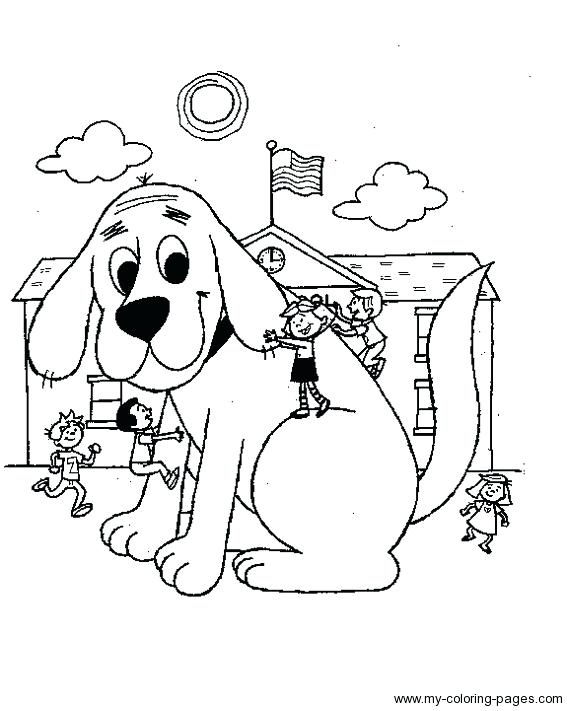 567x711 Clifford Coloring Pictures Coloring Clifford The Big Red Dog