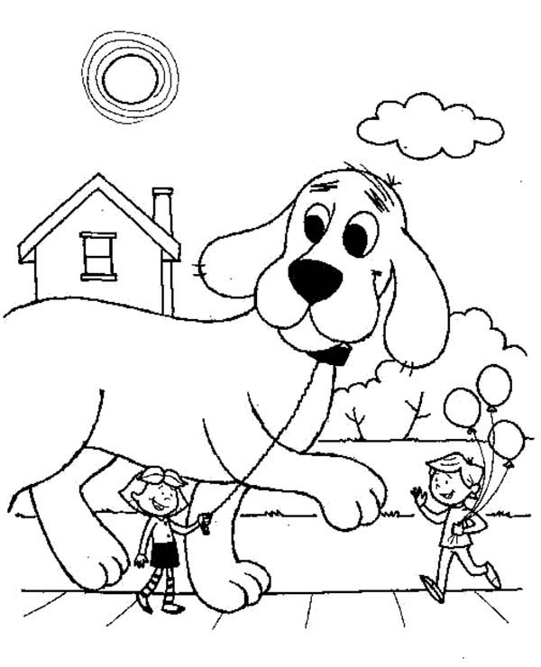 600x740 Clifford The Big Red Dog Coloring Page Clifford The Big Red Dog