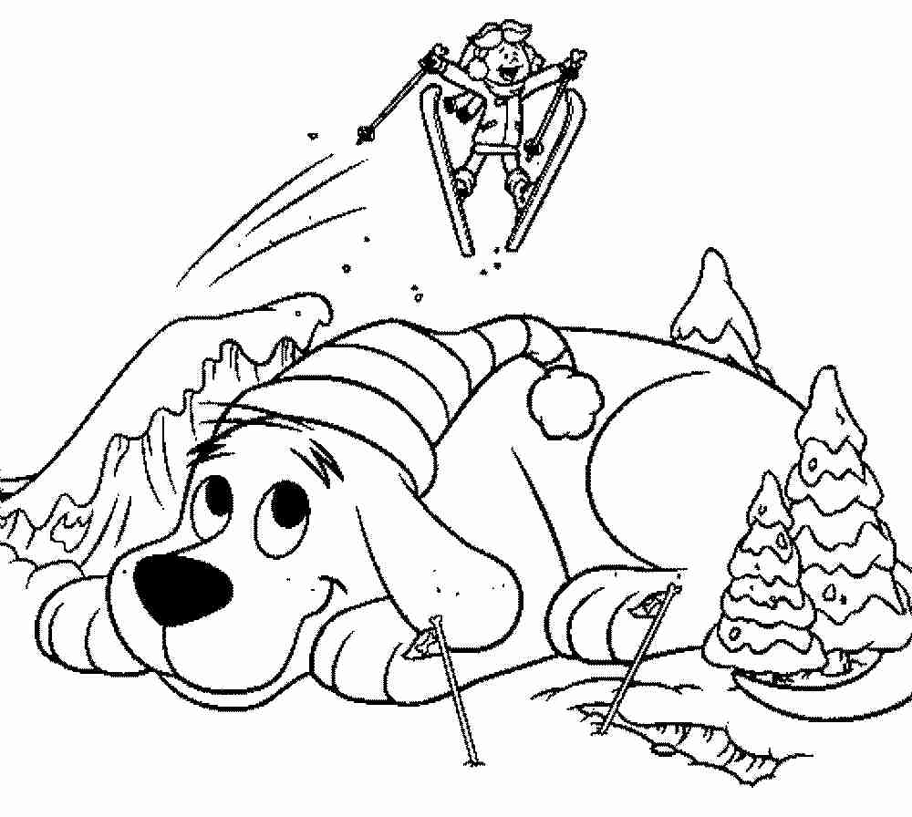 1000x896 Clifford The Big Red Dog Coloring Page Pages