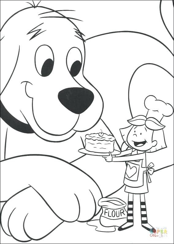 567x794 Clifford The Big Red Dog Coloring Pages Coloring Pages Clifford