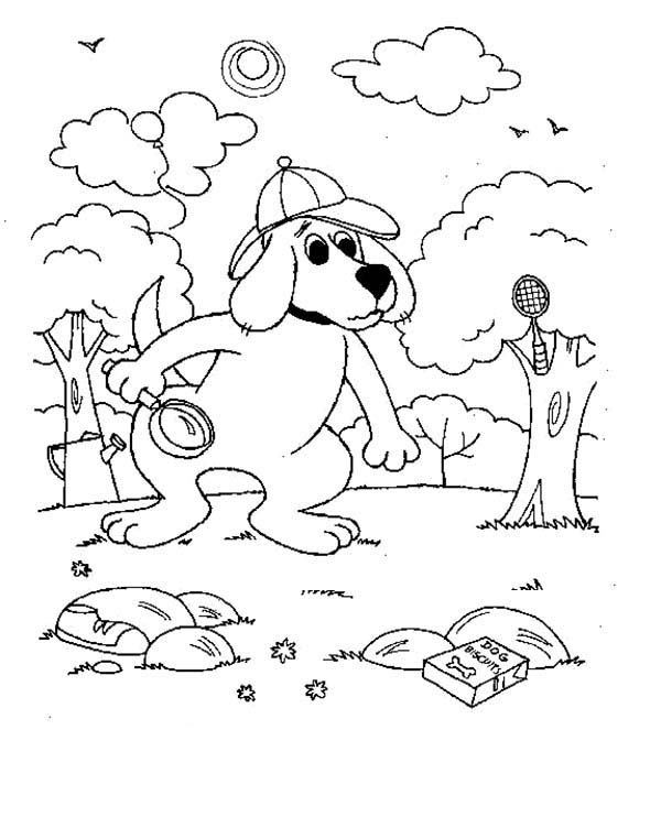 600x752 Detective Clifford The Big Red Dog Coloring Page Coloring Sun