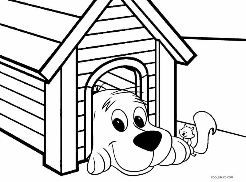 Clifford The Big Red Dog Coloring Pages At Getdrawings Com Free