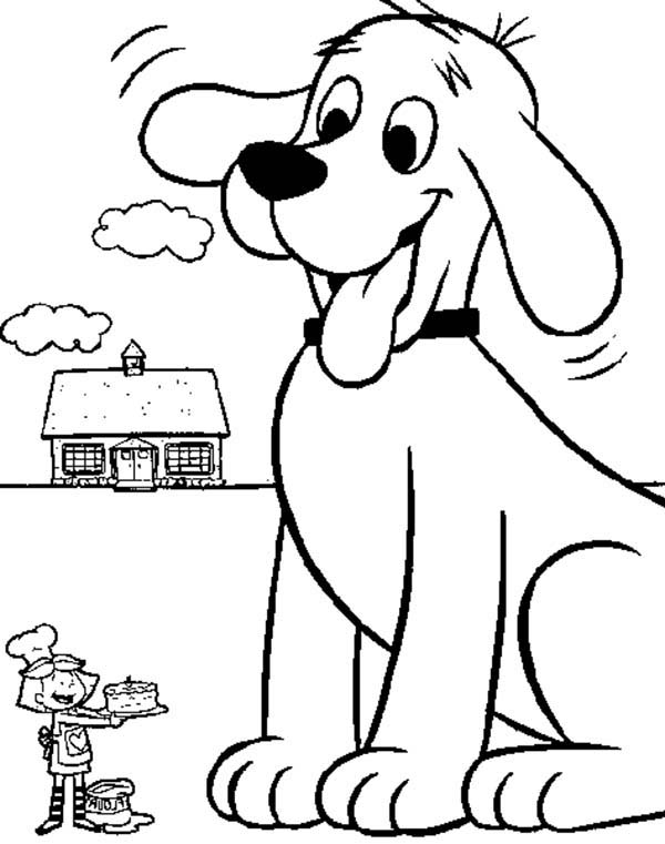 600x761 Clifford The Big Red Dog Coloring Pages The Big Red Dog Coloring