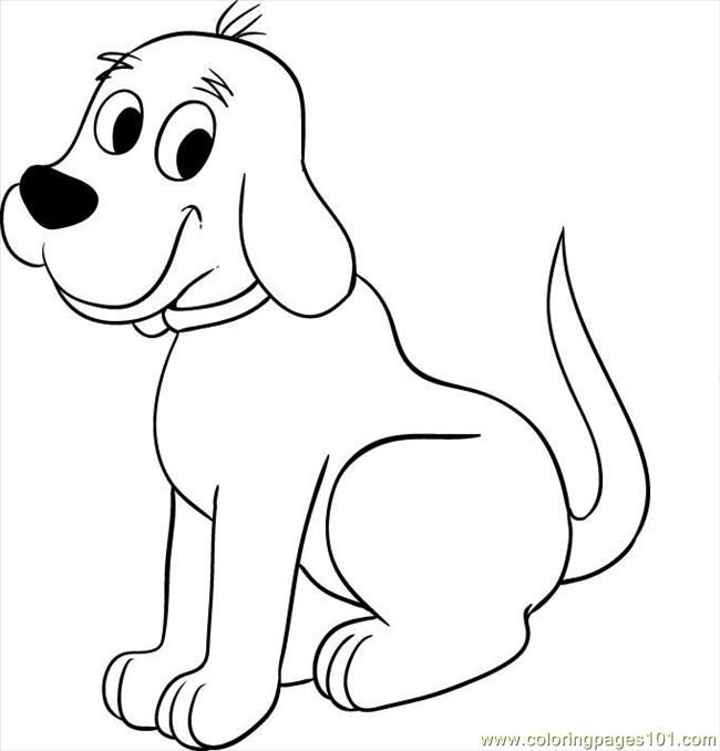 650x678 Big Dog Coloring Pages Clifford The Big Red Dog Pictures To Color