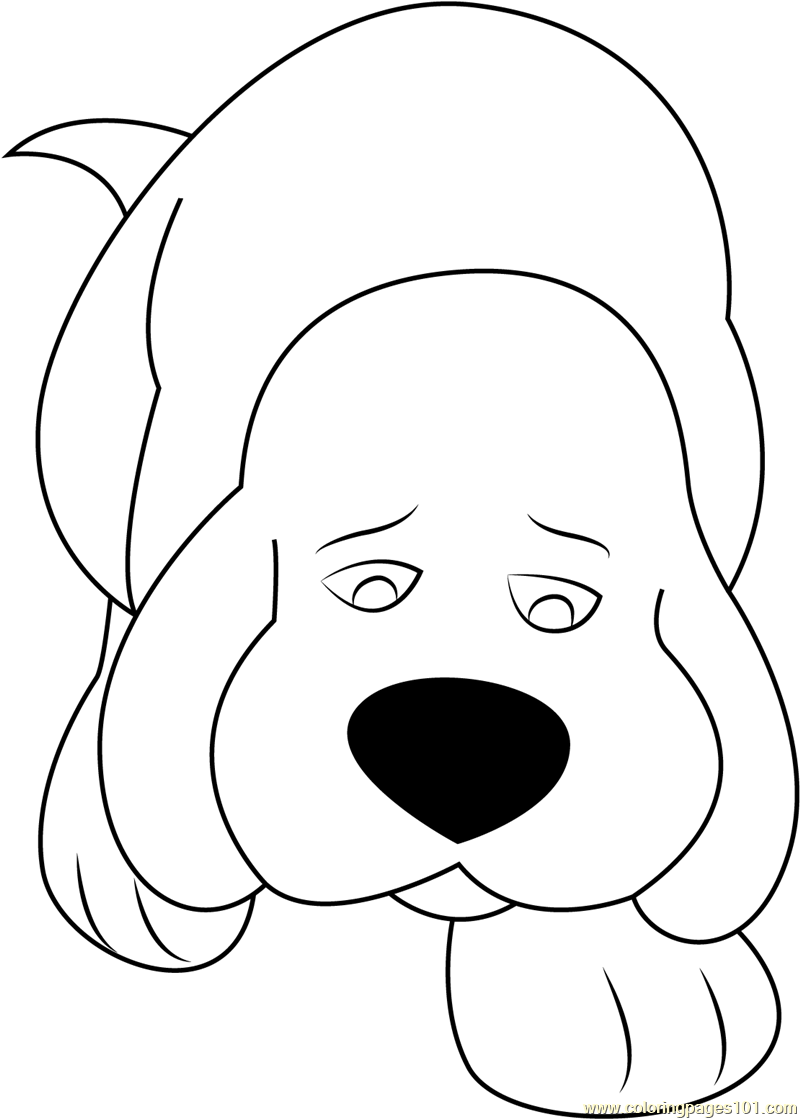 800x1119 Clifford Big Red Dog Coloring Page Face Pictures Pages