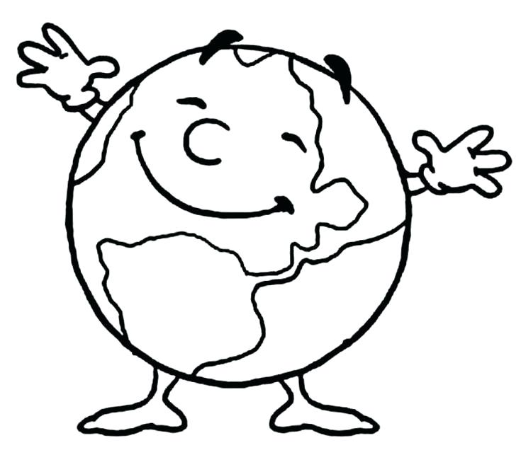 735x643 Earth Coloring Pages Free Printable